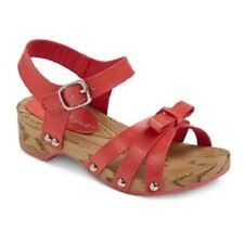 Cat & Jack Toddler Girls Wood Wedge Sandals Size 6 Coral NWT