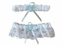 Wedding Garter Set Bridal Something Blue Lace Bride Leg Accessories