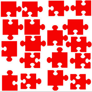 Large Jigsaw Pieces, vinyl wall sticker, self adhesive decal