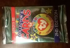 Beanie Babies Collector's Cards Ty Series 3 2nd Edition 1999 New in Pack