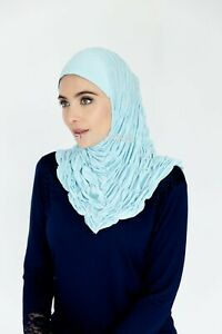 One-Piece Al-Amira Ruffle Headscarf Hijab (made in Dubai) Islamic Clothing