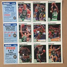 1991-92 Osco Drug Boston Celtics Hoops Night Sheet SGA Team Set Parrish Lewis