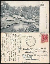 SIERRA LEONE KROO BAY PPC 1915 REDIRECTED in GOLD COAST to GB