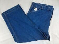 New listing Vintage Pointer Brand Men's Usa Made Carpenter Blue Denim Jeans Sz 48x30