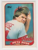 "1989  PETE ROSE - Topps ""TIFFANY"" Baseball Card # 505 - CINCINNATI REDS"