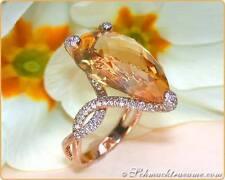 Echte Edelstein-Ringe aus Rotgold mit Citrin
