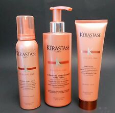 KERASTASE KIT DISCIPLINE CURL IDEAL CONDITIONER, MOUSSE, OLEO CURL CREME, COMBO
