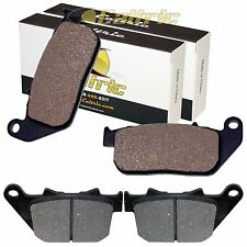 FRONT REAR BRAKE PADS FIT HARLEY DAVIDSON XL883C SPORTSTER 883 CUSTOM 2004-2013