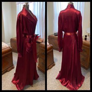 Glamorous 1930s-40s Dressing Gown by Lady Esquire Original Sz M/L