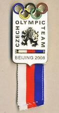 2008 BEIJING Czech Republic NOC deleg PIN Badge w. RIBBON Olympic Games OLYMPICS