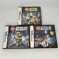LEGO Star Wars: The Complete Saga I, II & III (Nintendo DS) Complete - Tested
