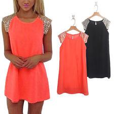 Summer/Beach Patternless Short/Mini Shirt Dresses