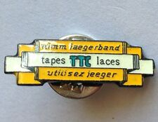 TTC Brand Nimm Jaegerband Tapes Laces Advertising Pin Badge Rare Vintage (F6)