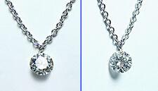 Platinum VS-GH Floating Dangling Diamond Necklace Estate