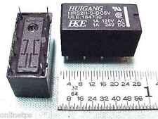 5Pc 5Volt 1Amp PCB Mount DPDT Telecom Relay for Electronics DIY 5v