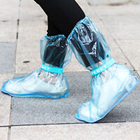 Cute Women's Men Waterproof Foldable Rubber Rain Boots Wellies Blue Rainboots