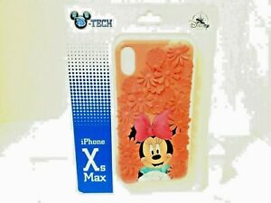 Disney Parks Minnie Mouse Pink 3D Flowers iPhone Xs Max Phone Case New