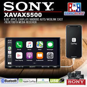 "Sony XAV-AX5500 6.95"" Apple CarPlay/Android Auto/WebLink Cast/Bluetooth Receiver"