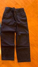 Lands End Navy School Uniform Elastic Waist Chino Pants Boys 10