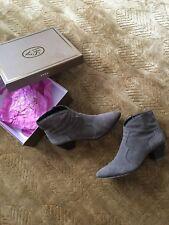 Original Ash Schuhe Ankle Boots Stiefeletten Wildleder braun / grau Gr.39 (40 )