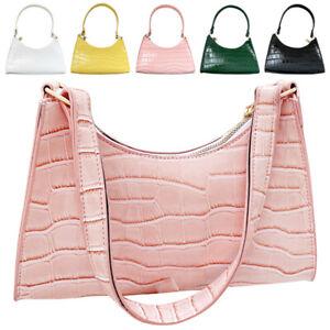 Women Tote Messenger PU Leather Clutch Shoulder Underarm Purse Baguette Handbag