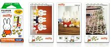 FUJIFILM INSTAX Mini Miffy Character Instant Films 10 Sheets Photo Cute Frame