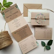 Rustic Wedding Invitation with Envelope - Wedding Stationery - SAMPLES ONLY