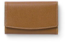 Key Wallet in Grained Cognac leather - Graf von Faber-Castell