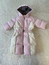 Armani Baby Girls Winter Snowsuit Pink White Size 6 Months