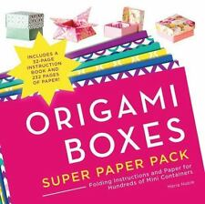 Origami Boxes Super Paper Pack: Folding Instructions and Paper for Hundreds of M