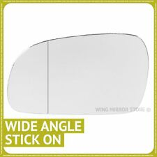 Left Passenger Side WIDE ANGLE WING DOOR MIRROR GLASS For VW Fox 03-11 Stick On