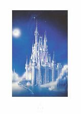 Art of Disney Cinderella Castle Winter Dream Postcard, NEW