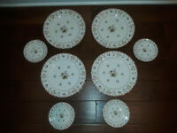 """LOT of 8 Wedgwood Bianca Fine China 11"""" Dinner Plates/6"""" Bread & Butter Plates"""