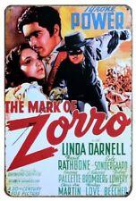The Mark of Zorro-cinéma film Rétro Vintage Nostalgie Plaque métal signe B216