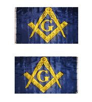 Masonic Square and Compass Yellow and Black 5/'x3/' Flag