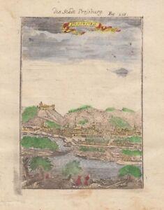 1685 Fine Mallet City Plan of Bratislava, Slovakia