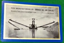 Playing Cards 1 Single Swap Card Old Vintage YUBA MANUFACTURING GOLD DREDGE AD