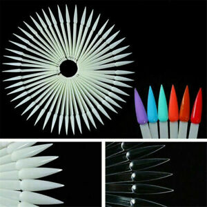 40Pcs Nail Art False Tips Sticks Practice Display Fan Colour Swatch Design Tool.