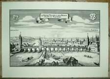 Regensburg Steinerne Brücke: alte Ansicht Merian Druck Stich 1650