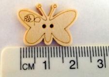 Cute Butterfly Wooden Buttons x20 .$2.40 . Australian Supplier