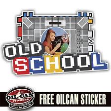 old school retro sticker, ratlook, hoodride, vw, eighties 146 x 90mm