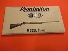 Remington Instructions for Operation and Care of Model 11-48 Autoloading Shotgun
