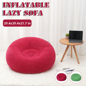 Large Inflatable Lazy Sofa Chairs PVC Lounger Seat Bean Bag Sofas Pouf Cou
