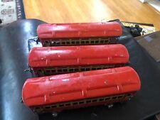 """LIONEL #1690-1690-1691 SET OF (3)  RED """"LIONEL LINES"""" PASSENGER CARS-EX. ORIG!"""
