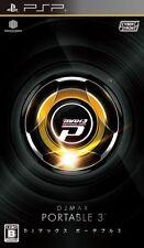 Used PSP DJ Max Portable 3  Japan Import ((Free shipping))