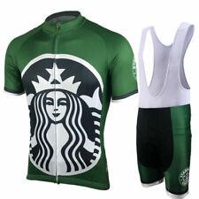 Retro Starbucks Coffee Cycling Jersey And Bib Shorts Sets