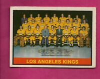 1974-75 OPC # 287 KINGS  MARKED TEAM CHECKLIST  CARD (INV# A6744)