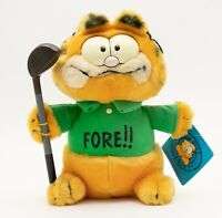 Dakin Garfield Cat 6in FORE Golf Vintage Stuffed Animal Plush Toy 1981