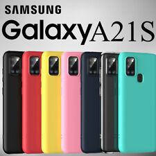 Cover Custodia in Silicone Per Telefono SAMSUNG GALAXY A21S+Pellicola In Vetro