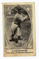 1922 Neilson's V61 Type 1  Baseball Card Clyde Barnhart Pittsburgh Nationals